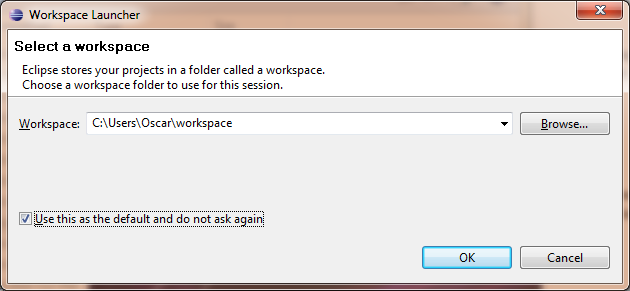 Select workspace folder