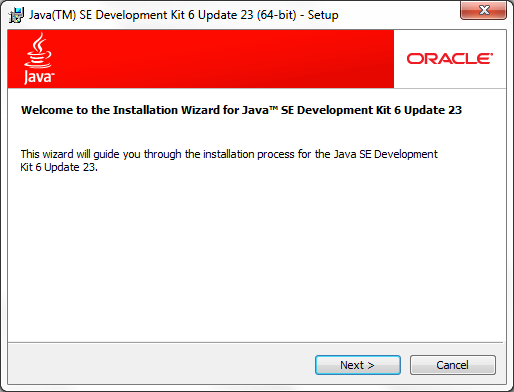 JDK installer screenshot