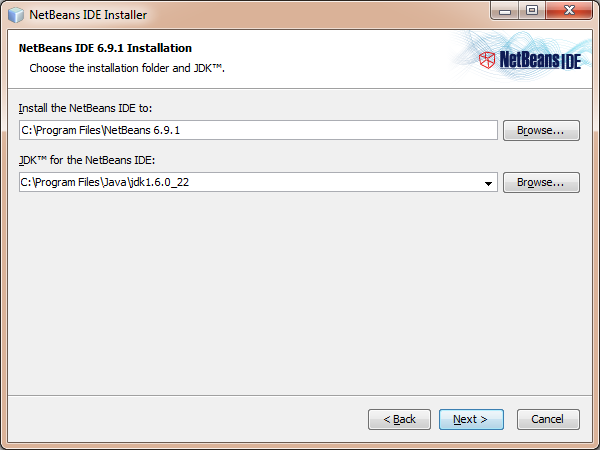 NetBeans installation folder