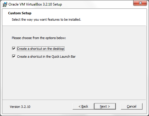 VirtualBox shortcuts