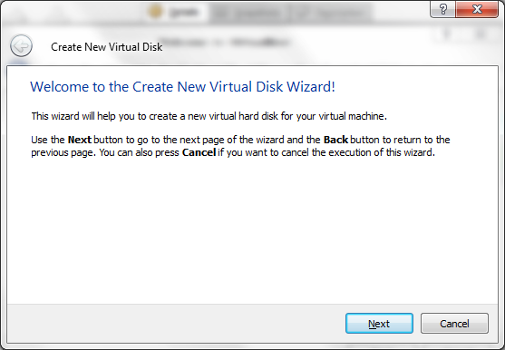 Create New Virtual Hard Drive Wizard