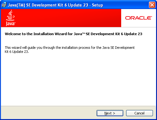 Instalador del JDK
