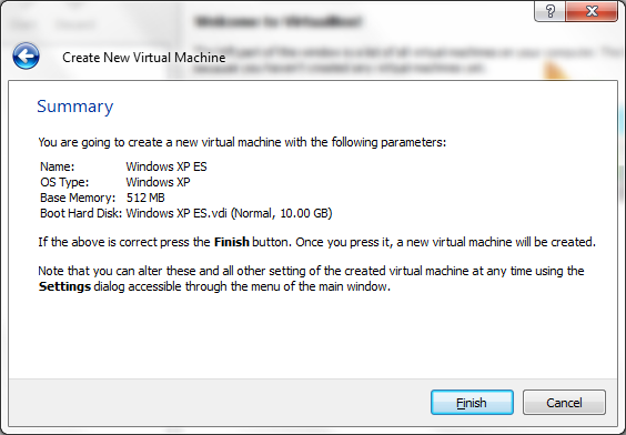 Virtual Machine summary