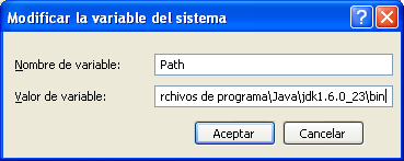 Variable Path en Windows