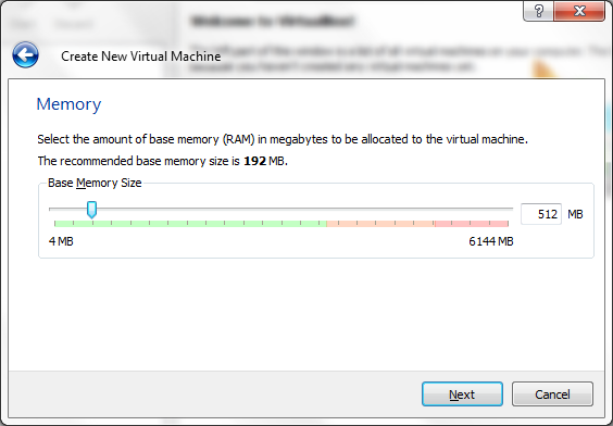Virtual Machine memory size