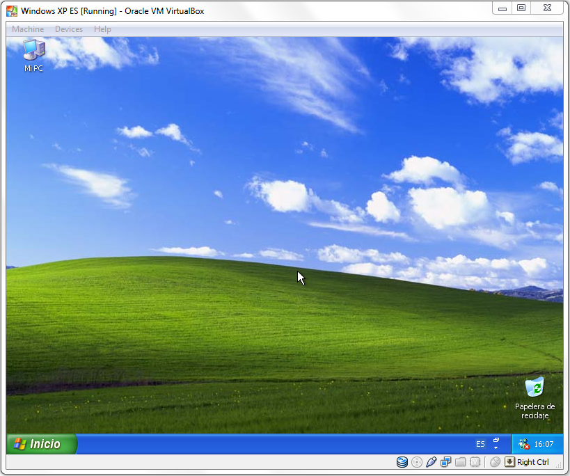 Windows XP on VM