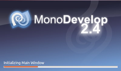 MonoDevelop Splash Screen