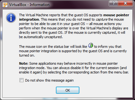 Mouse Pointer Integration