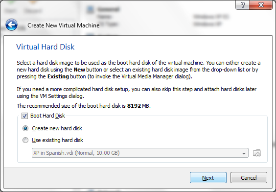 Virtual Machine Virtual Hard Drive