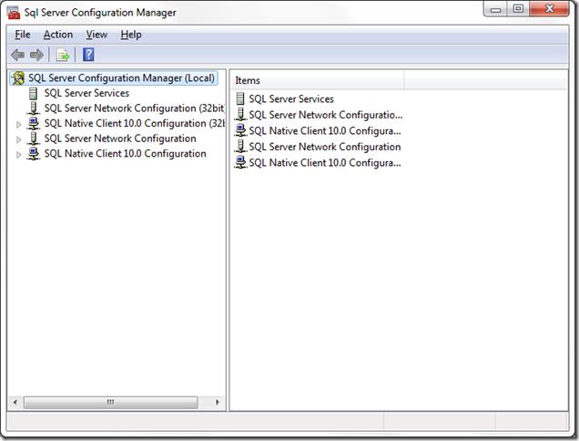 Administrador de Configuración de SQL Server